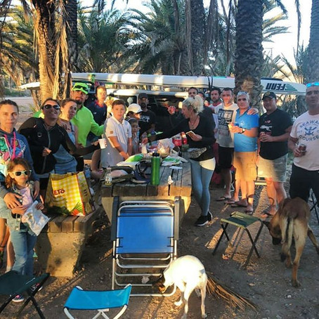 This last weekend we had a special day between paddlers of Cartagena from different clubs ..