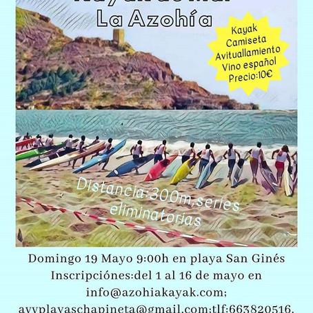 19 de Mayo I regata de kayak de mar en la azohia