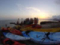 Agrupacion de kayak de mar