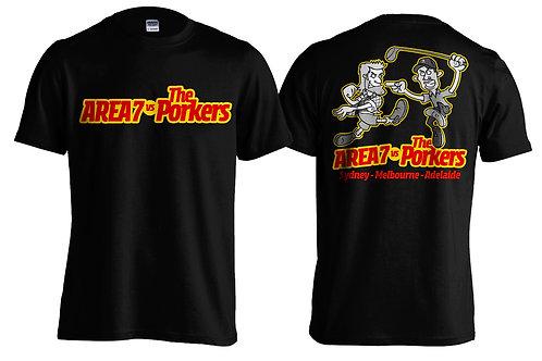 Area 7 vs Porkers Tour Shirt