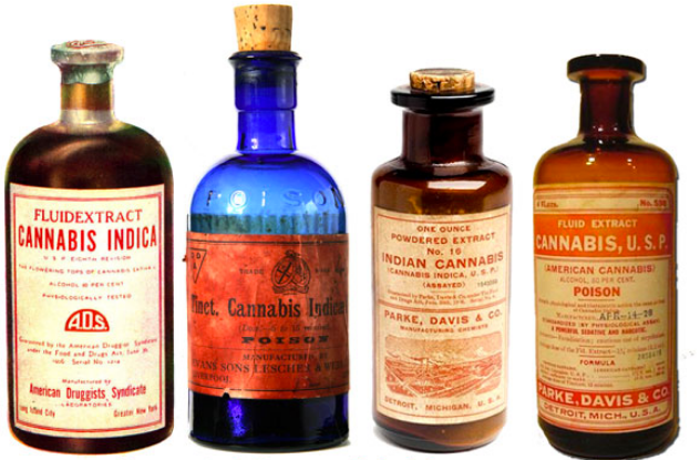 Antique Cannabis Medicine Bottles
