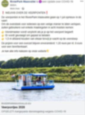 Gepland bericht veerponten Facebook - 1