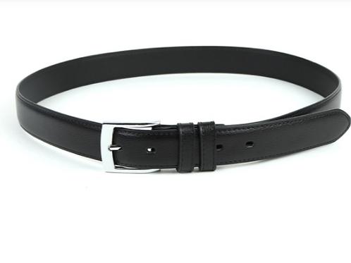Genuine Leather Men's Dress Belt - Black