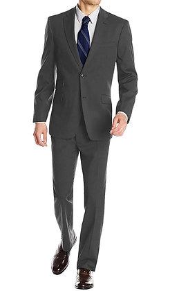 Italian Men's Wool & Cashmere Suit - Charcoal