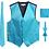 Thumbnail: Men's Formal 4pc Satin Vest Necktie Bowtie and Pocket Square