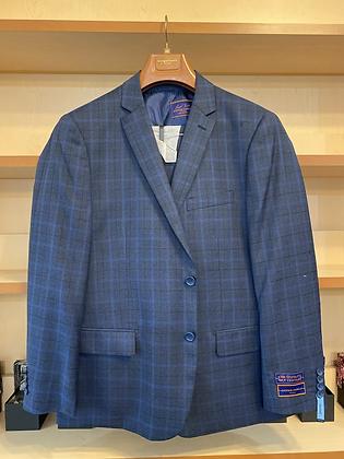 Giorgio Suit 46R - Blue Windwpane