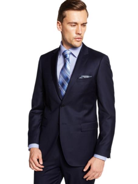 100% Wool 140s Suit - Navy