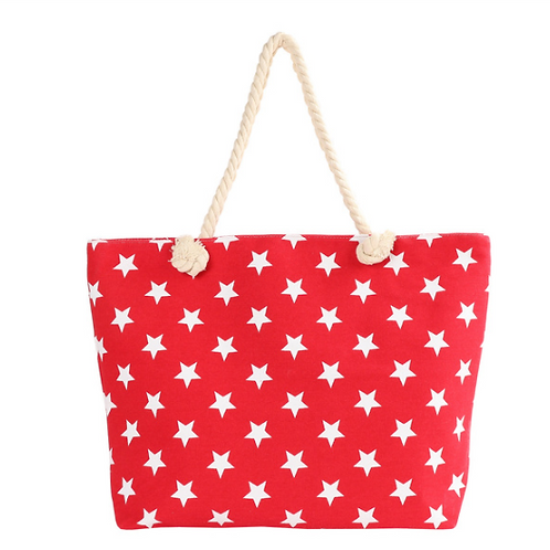 Red Stars Summer Tote