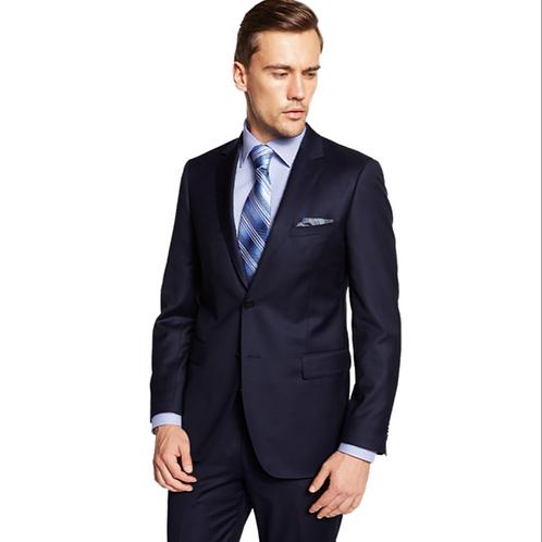 100% Wool 140s Suit - Black