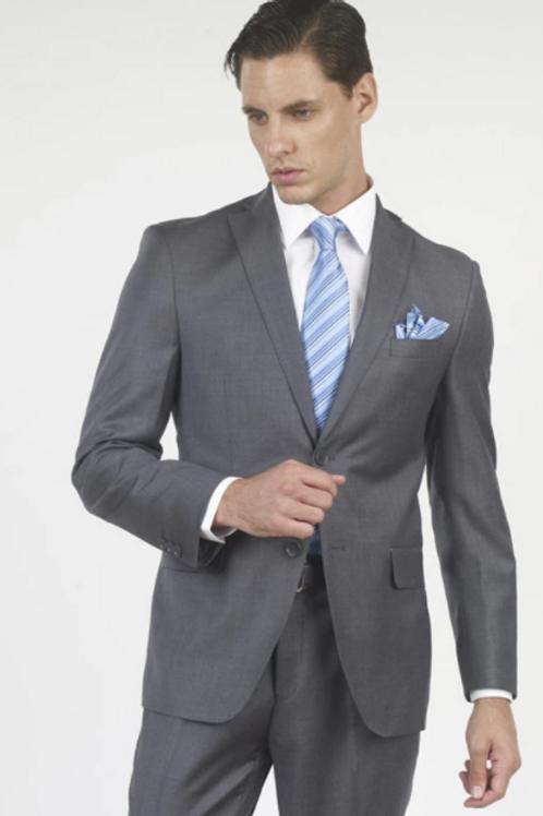 100% Wool 140s Suit - Medium Gray