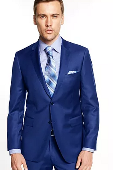 100% Wool 140s Suit - French Blue
