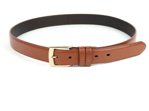 Genuine Leather Men's Dress Belt - Brown