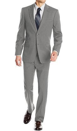Italian Men's Wool & Cashmere Suit - Light Gray