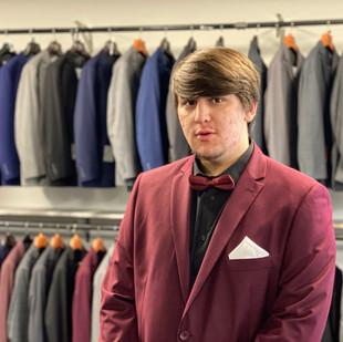 Burgendy suit at Gurcan Tailor