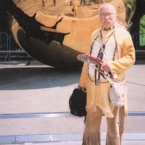 "Joel T. Keener ""Grey Feather"" Vice President of Totem Rhythms M.F.A., M.F. Professor of Art, Cheyney University of Pennsylvania"