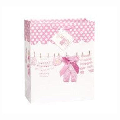 Bag Gift Large Baby Clothesline Pink