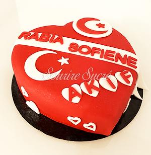 gâteau forme de coeur - gateau anniversa