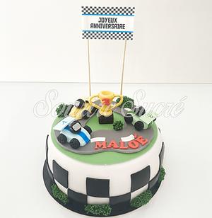 gateau voiture - gâteau petite voiture-