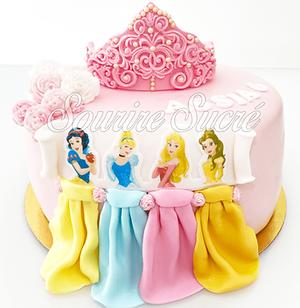 gateau princesses disney - gateau anniversaire - gateau princesse - gateau anniversaire pr