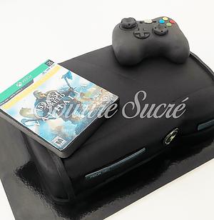 gateau xbox - gâteau  console xbox- gateau anniversaire - gateau forme xbox - gateau anniv