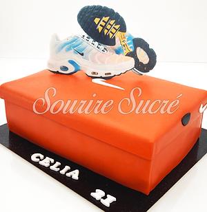 gateau nike - gâteau boite a chaussures- gateau anniversaire - gateau anniversaire nike -
