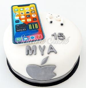 gateau apple - gateau anniversaire - gat