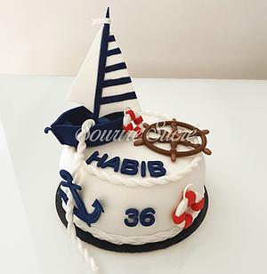 gateau marin - gateau anniversaire - gateau à thème - gateau anniversaire roussillon - gat