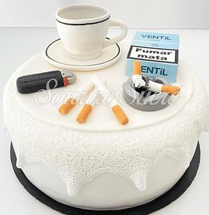gateau cigarette - gateau pause café - gateau anniversaire cigarette - gateau tasse - gate