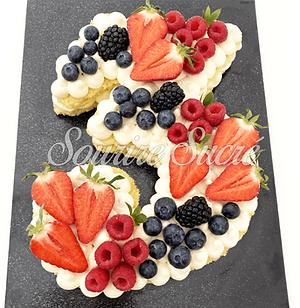 number cake - number cake numéro 3 - gateau anniversaire numéro 3 - gateau numéro trois -