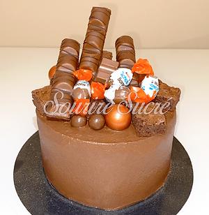 gateau kinder - gateau kinder bueno - layercake kinder bueno - layer cake kinder - gateau