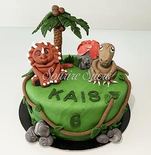 gâteau à thème - gateau anniversaire - gateau dinosaure - gateau anniversaire dinosaure -