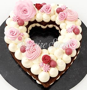 heart cake - heartcake - gâteau forme de coeur - gateau anniversaire - gateau heartcake -