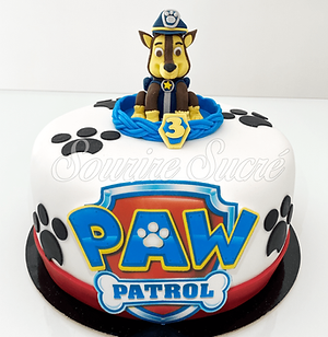 gateau pat patrouille policier - chien p