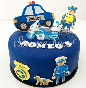 gateau playmobil police - playmobil poli