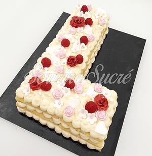 number cake - letter cake - gateau en L