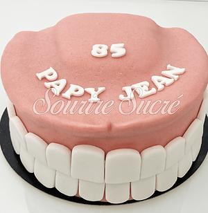 gateau dentier - gateau anniversaire dentier - gateau dents- gateau roussillon - gateau an