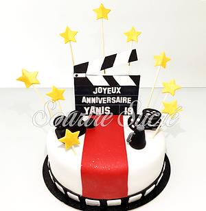 gateau cinema - gateau anniversaire cinema - gateau hollywood - gateau roussillon - gateau