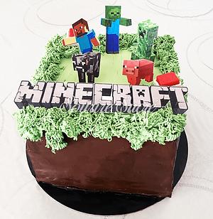 gateau minecraft - gateau anniversaire m
