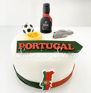 gateau portugal - gateau thème portugal