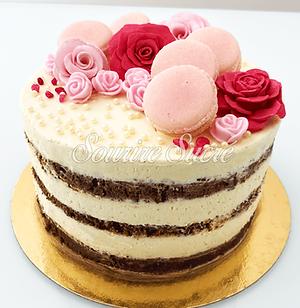 naked cake chocolat - naked cake blanc -