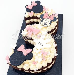 number cake - number cake minnie - gatea