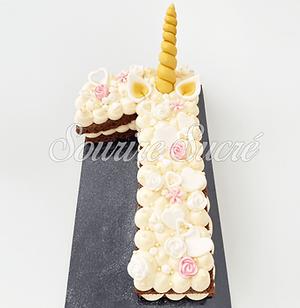 number cake - number cake licorne - gate