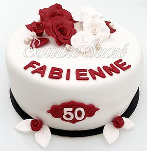 gateau fleurs - gateau rose - gateau fleur- gateau roussillon - gateau anniversaire roussi