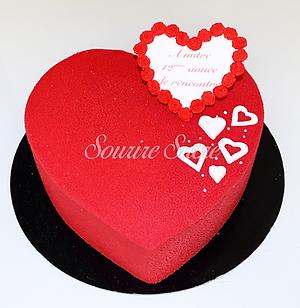 gâteau forme de coeur - gateau anniversaire - gateau amour - gateau coeur - gateau saint v