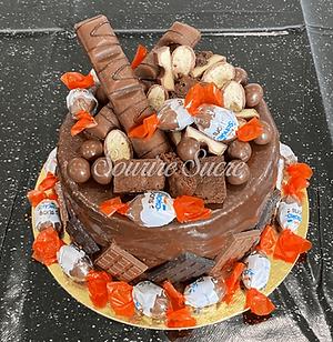 gateau kinder - gateau kinder bueno - layercake kinder bueno - layer cake kinder - drip ca