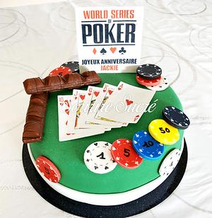 gateau poker - gateau casino - poker cak