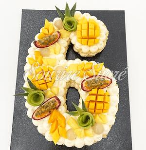 number cake - number cake numéro 6 - gateau anniversaire numéro 6 - gateau numéro six - nu