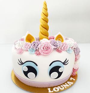 gateau tete licorne - gateau licorne - gateau anniversaire licorne - gâteau à thème - gate