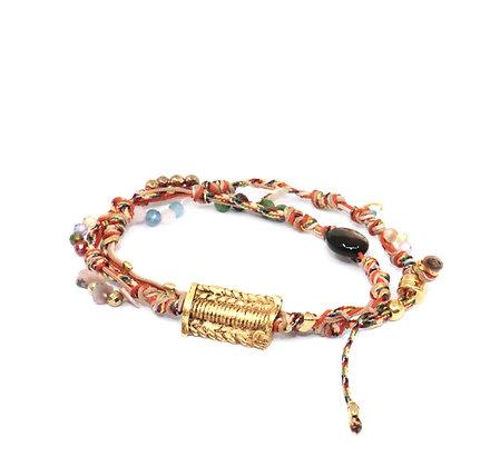 Bracelet/ras de cou Liens Papaye