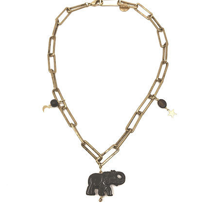 Chocker Lucky black Elephant
